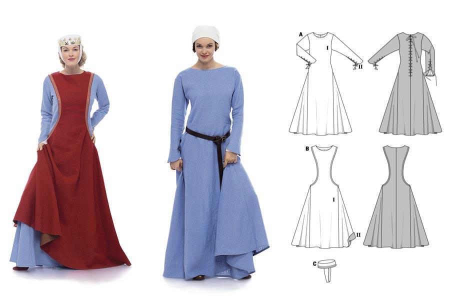 Schnittmuster fur mittelalter kleider
